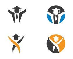jeu de logo de l'éducation vecteur