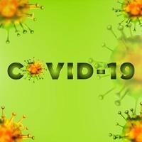 fond de cellules vertes covid-19