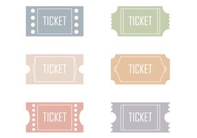 Vecteurs de tickets gratuits vecteur