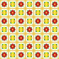 Motif floral sans fleurs Talavera vecteur