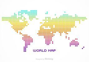 Carte vectorielle gratuite Pixel World vecteur