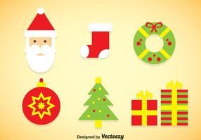 Vector des icônes des couleurs de Noël