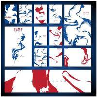 jeu de cartes de couverture motif marbre bleu et rouge