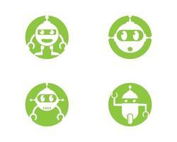 ensemble de logo de robot