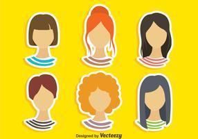 Jeu de coiffures pour filles vecteur