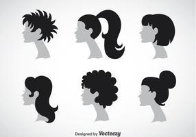 Ensembles de collection de coiffures pour femme vecteur