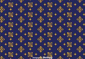 Vecteur de fond de batik bleu foncé