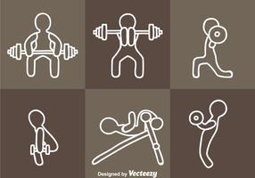 Exercice des vecteurs d'icônes vecteur