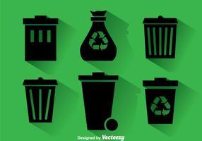 Dumpster Black icons vecteur