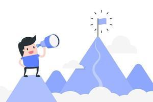 concept de réalisation des objectifs vecteur