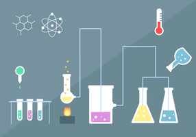 Kit de chimie gratuite vecteur