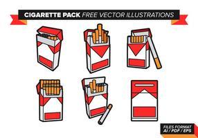 Ensemble de cigarettes illustrations vectorielles gratuites