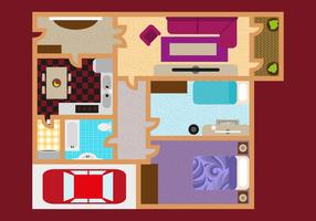 Vector d'illustration de plan d'étage