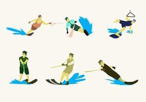 Vecteur d'illustration de ski nautique