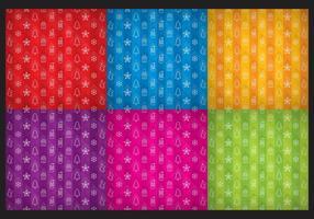 Vecteurs colorés de motif de Noël vecteur