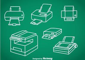 Ensembles vectoriels de photocopie vecteur