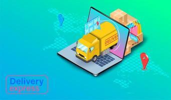 concept express de camion de livraison