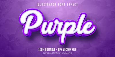 Effet de texte modifiable violet 3D vecteur