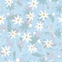 motif de fleurs blanches