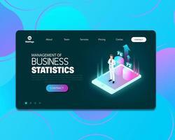 page web de statistiques vecteur