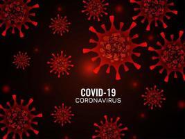 fond de coronavirus abstrait couleur rouge