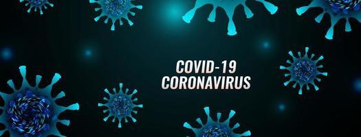 bannière de la maladie du coronavirus Covid-19