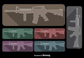 Ar15 vecteurs de fusil vecteur