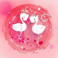 couronne de fleurs de flamant rose