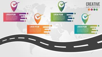 modèle de conception de chronologie de feuille de route infographique d'entreprise vecteur