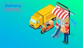 concept de transport de livraison express
