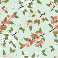 motif floral de printemps coloré