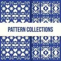 ensemble de motifs de texture mosaïque marocaine