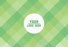 Fond vert libre de vecteur de carrés verts
