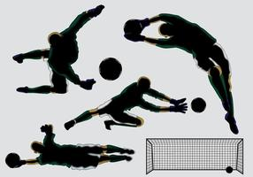 Vecteurs de Silhouette de Goal Keeper vecteur