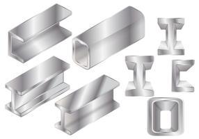 Vecteurs de faisceau d'acier dur vecteur