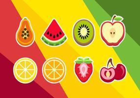 Vector des illustrations en tranches de fruits