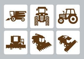 Vecteur libre d'icônes de tracteur
