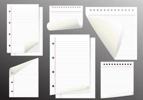 Flux de pages de vecteur de papier de note