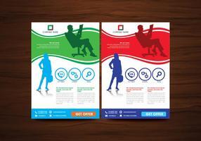 Brochure d'affaires vectorielle vecteur de conception de prospectus