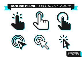 Paquet de vecteur gratuit de clic de souris