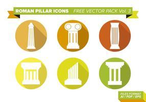 Icônes du pilier roman pack vecteur gratuit vol. 3