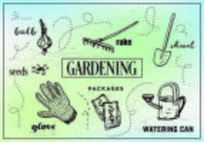 Illustrations de jardinage gratuites