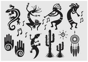 Symbole Vecteur Kokopelli
