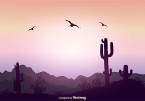 Belle illustration vectorielle de paysage vecteur