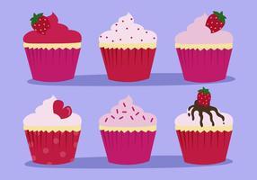 Vector de shortcake de fraises gratuit