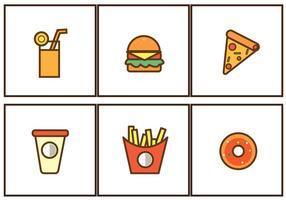 Illustration d'icônes de nourriture rapide gratuite vecteur