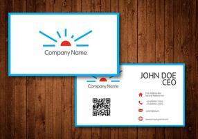 Logo de Sun Business Card Template Vector