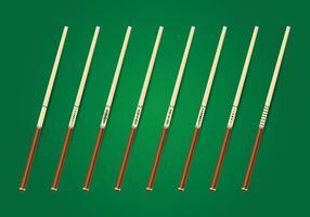 Collection de bâtons de bâtons de piscine