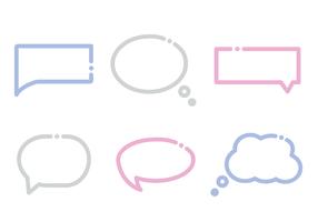 Vecteur de boîte de dialogue gratuit