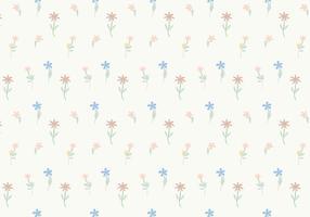 Vecteur de fond de motif de fleurs en pastel